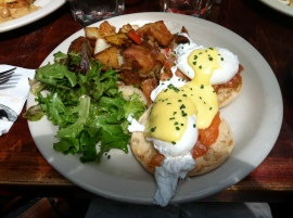 Eggs Benedict with Salmon at Essex in L.E.S. NYC